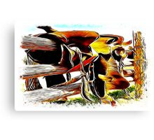 Riding The Fence Canvas Print