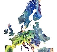 Europe Map cosmic by JBJart