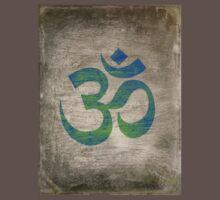 Om Ohm Yoga Namaste Symbol -Green Blue Black  One Piece - Short Sleeve
