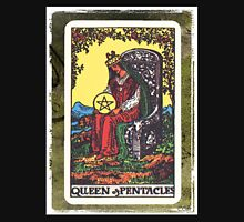 Queen Of Pentacles Tarot Card Fortune Teller Unisex T-Shirt