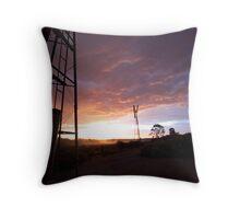 Windmill Sun Set Throw Pillow