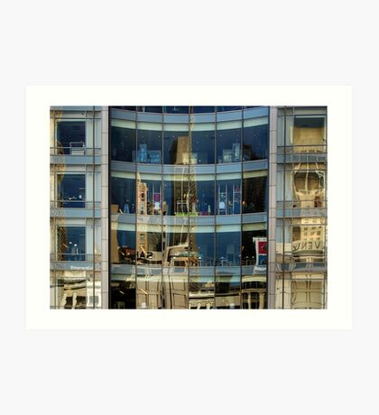San Francisco Union Square reflection Art Print