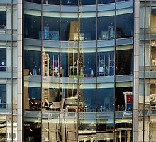 San Francisco Union Square reflection by luvdusty