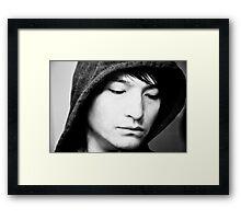 Hooded Emotion Framed Print