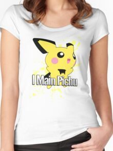 I Main Pichu - Super Smash Bros. Melee Women's Fitted Scoop T-Shirt