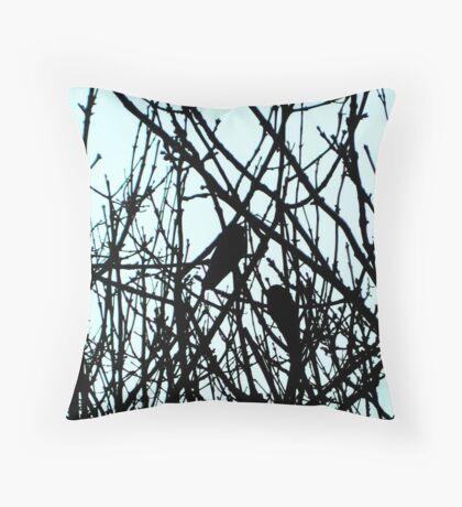 Blackbirds Throw Pillow