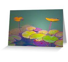 lotus floating leaves Greeting Card