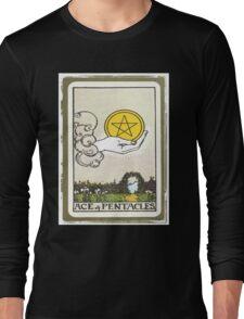 Ace Of Pentacles Tarot Card Long Sleeve T-Shirt