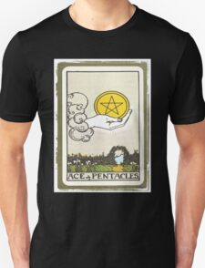 Ace Of Pentacles Tarot Card Unisex T-Shirt