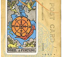 Wheel Of Fortune Tarot Card by designsbycclair