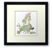 Map of the Europe Maps Framed Print