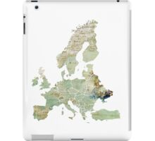 Map of the Europe Maps iPad Case/Skin
