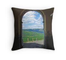 View from Motovun Throw Pillow