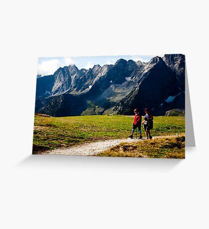 Alpen Footpath Greeting Card