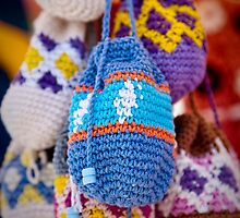 Knitted Pouches by AlexSaunders