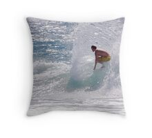 Rooster spray Throw Pillow