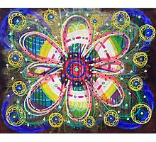 Blooming Orbs of Light: Inner Power Painting Photographic Print