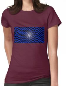 Black on Blue iPhone / Samsung Galaxy Case Womens Fitted T-Shirt
