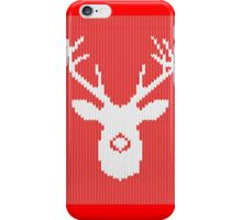 Deer Silhouette in Christmas Ugly Sweater Knitting iPhone Case/Skin
