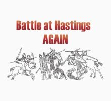 Battle at Hastings Again ANNUAL RE-ENACTMENT OF 1066 One Piece - Short Sleeve