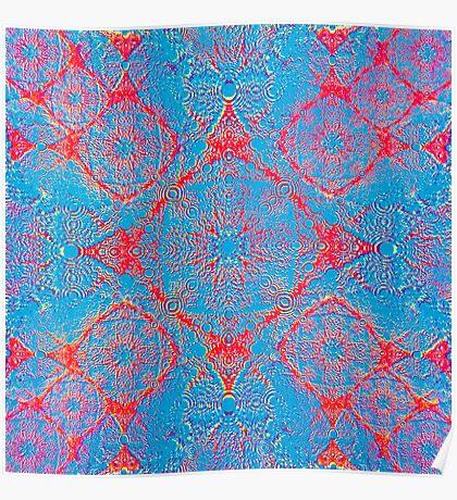 Iridium Atoms Blue Orange Poster
