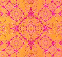 Iridium Atoms Orange Pink by atomicshop