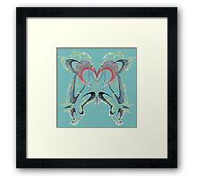 Dragons Of The Heart Framed Print