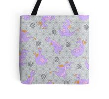 EPCOT Center Figment pattern Tote Bag