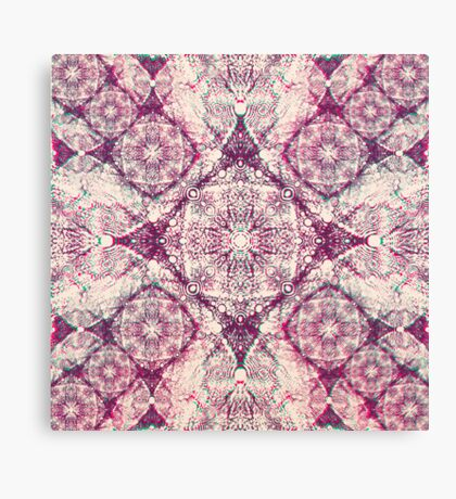 Iridium Atoms Purple White Canvas Print