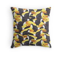 Toucan [yellow] Throw Pillow