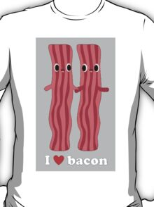Love Bacon Gry T-Shirt