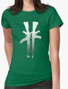 Ak-47  M-16 Womens Fitted T-Shirt