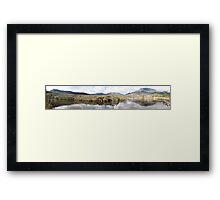 Tidal River Panorama Framed Print