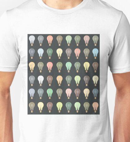 Lightbulb Pattern/Background Unisex T-Shirt