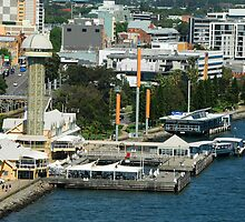 Birds Eye View - Queens Wharf Newcastle NSW by Phil Woodman