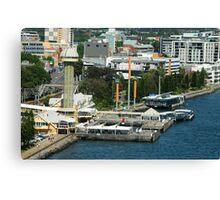 Birds Eye View - Queens Wharf Newcastle NSW Canvas Print