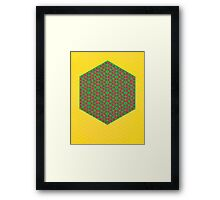 Silicon Atoms HyperCube Yellow Green Red Framed Print