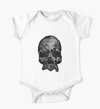 Faded Old-Skull One Piece - Short Sleeve