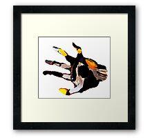 Wooden Grip (Hand) Framed Print