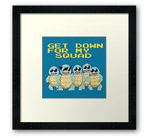 Squirtle Squad Goals Framed Print