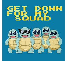 Squirtle Squad Goals Photographic Print