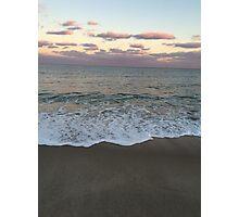 Beach at Sunset Photographic Print