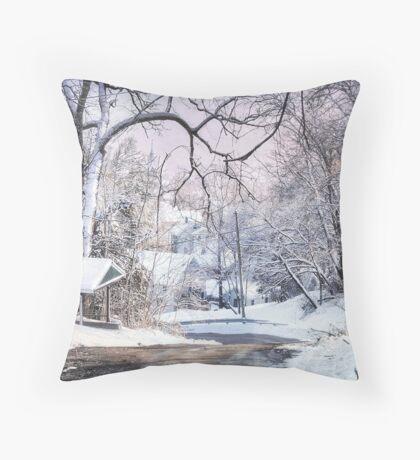 Snow for Christmas Throw Pillow