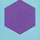 Silicon Atoms HyperCube Blue Pink by atomicshop