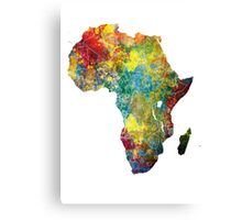 Africa map 3 Canvas Print