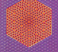 Silicon Atoms HyperCube Purple Orange by atomicshop
