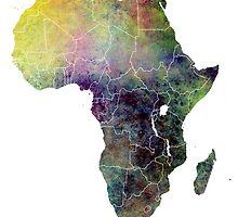 Africa map 4 by JBJart