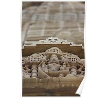 Temple Sculpture, Chittorgarh, Rajasthan, India Poster
