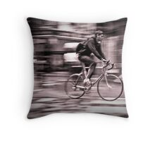 Cycle courier Throw Pillow