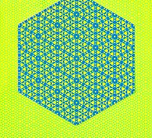 Silicon Atoms HyperCube Yellow Blue by atomicshop